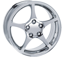 "House of Wheels Chrome C5 Corvette Y2K Replica Wheels - 17x8.5"" +56mm Offset"