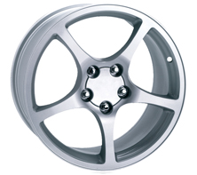 "House of Wheels Silver C5 Corvette Y2K Replica Wheels - 17x8.5"" +56mm Offset"