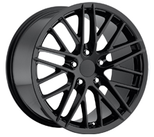 "House of Wheels Gloss Black C6 Corvette ZR1 Replica Wheels - 18x8.5"" +56mm Offset"