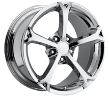 "House of Wheels Chrome C6 Corvette Grand Sport Replica Wheels - 18x8.5"" +56mm Offset"