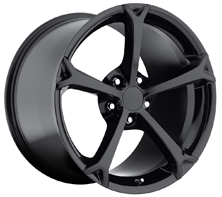 "House of Wheels Gloss Black C6 Corvette Grand Sport Replica Wheels - 18x8.5"" +56mm Offset"