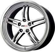 "97-04 C5 Corvette Cray Scorpion Silver Powdercoat w/Glossy Finish & Machine Lip Wheel - 17x9"" (50mm Offset)"