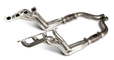 "2005-07 Dodge SRT8 Charger/Magnum/300C 6.1L V8 SLP Coated Long Tube 1 3/4"" Headers w/High Flow Cats (Use w/Stock Exhaust)"
