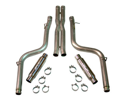 "2008+ Dodge Challenger SRT-8 6.1L/5.7L SLP Performance ""Loud Mouth II""(Modular) Exhaust System (Use w/SLP Headers)"