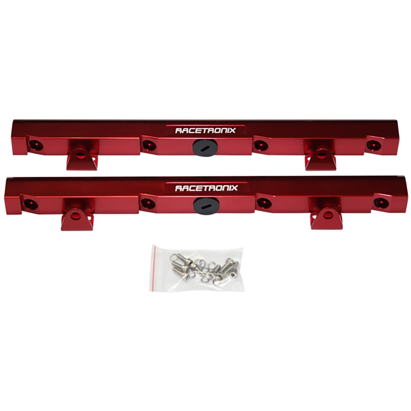 LS1 Racetronix Billet Aluminum Fuel Rails - Red