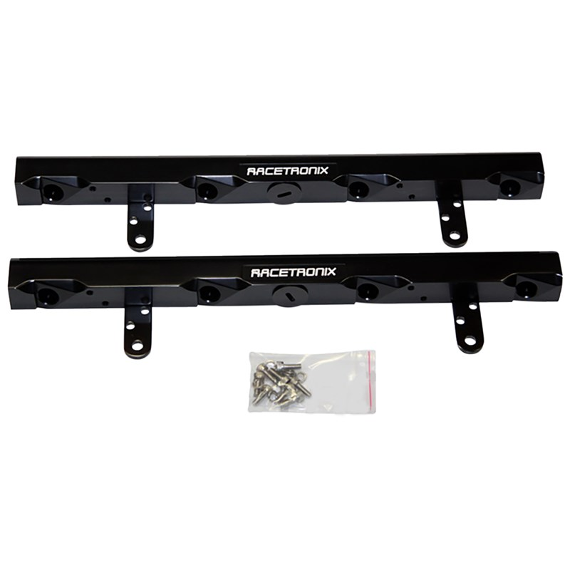 LS2 Racetronix Billet Aluminum Fuel Rails - Black
