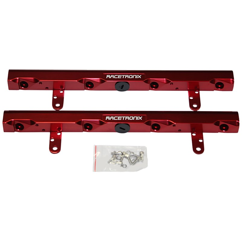 LS2 Racetronix Billet Aluminum Fuel Rails - Red
