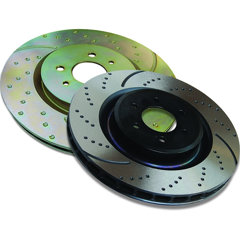 2004-07 Cadillac CTS-V EBC Dimpled and Slotted Sport Rotors (Front Pair)
