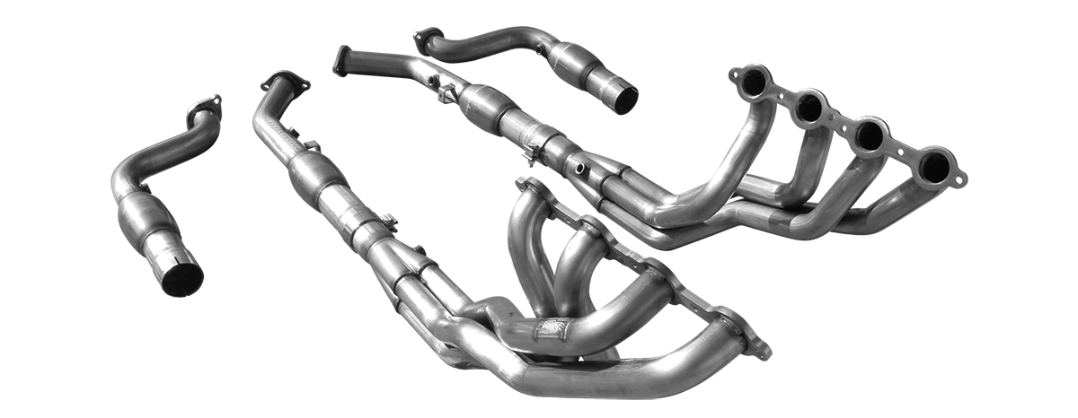 "2004 Pontiac GTO American Racing Headers 1 3/4"" x 3"" Long Tube Headers w/3"" Catted Connection Pipes"