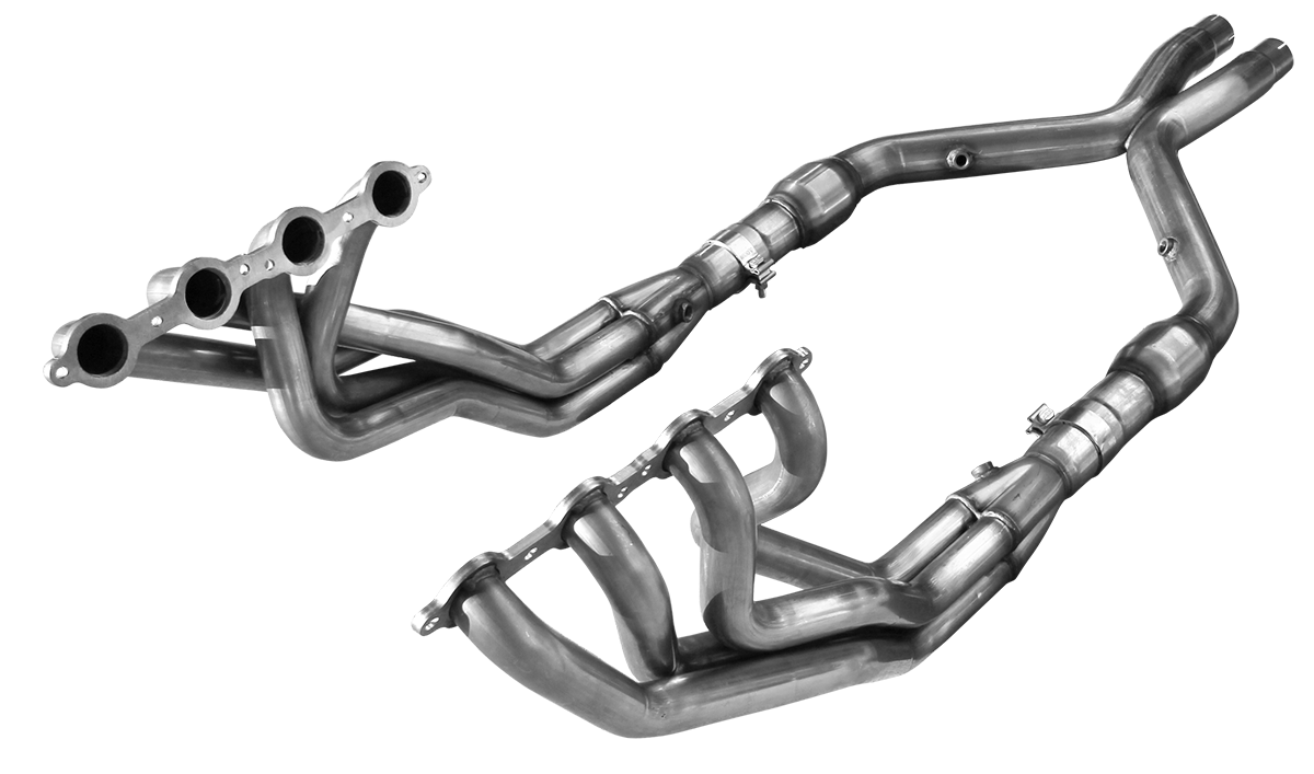 "2004-2006 Pontiac GTO American Racing Headers 1 3/4"" x 3"" Long Tube Headers w/3"" Catted Xpipe"