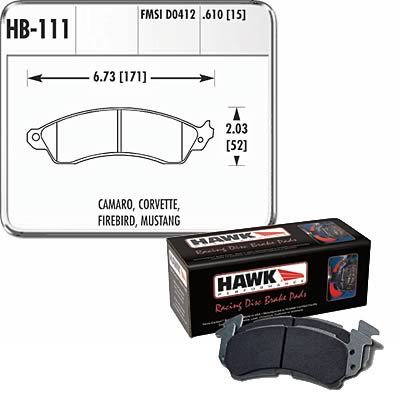 1994-2004 Ford Mustang Cobra Hawk Performance HD Black Race Brake Pads - Front