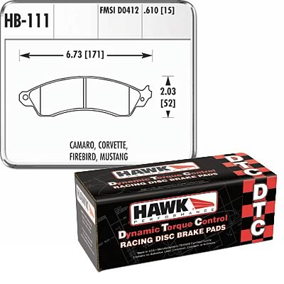 1994-2004 Ford Mustang Cobra Hawk Performance Heavy Duty DTC-70 Brake Pads - Front