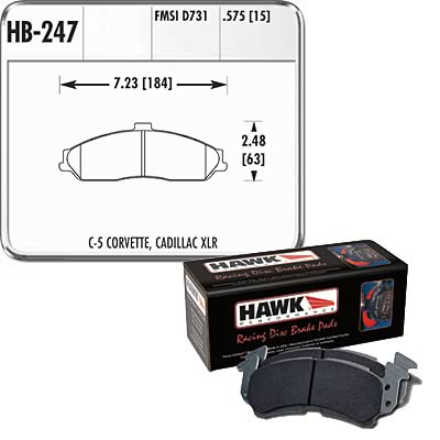 98-02 LS1 Fbody Hawk Performance 9012 Racing Brake Pads (Fronts)