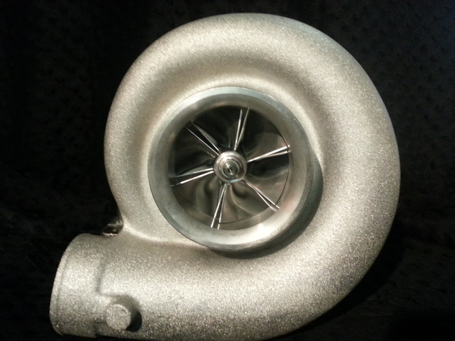 Custom Racing Turbos 88mm Billet HPR Series Mid Frame Turbo w/GT55 style 111mm Turbine Wheel  - 1550hp