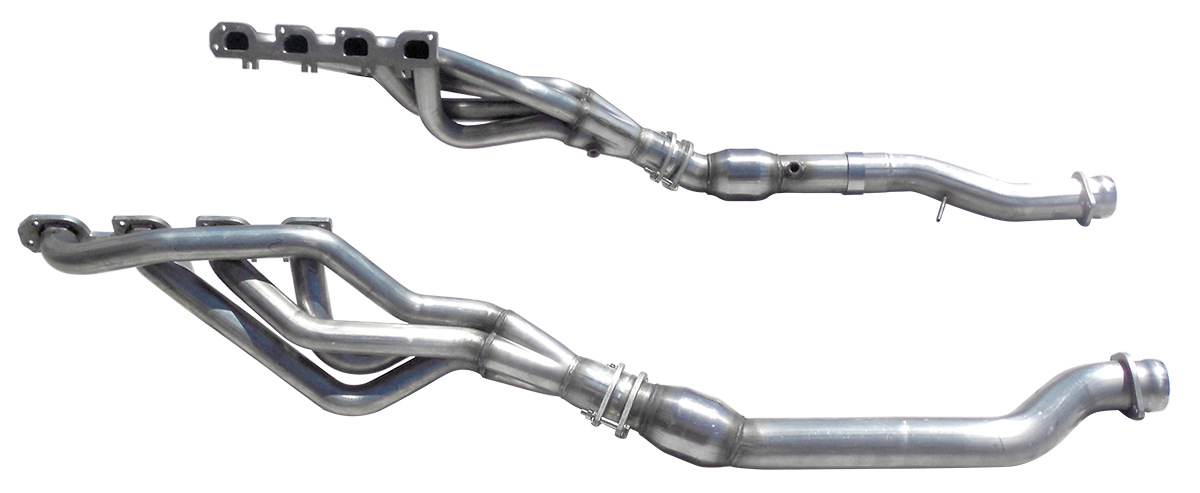 "2012+ Jeep SRT8 6.4L American Racing Headers 1 3/4"" x 3"" Long Tube Headers w/3"" Catted Connection Pipes"