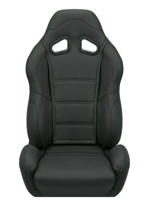 Corbeau CR1 Seats - Black Leather