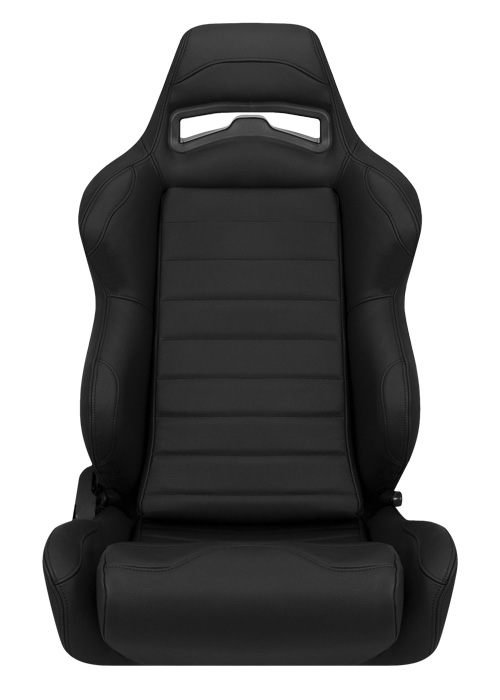 Corbeau LG1 Seats - Black Leather