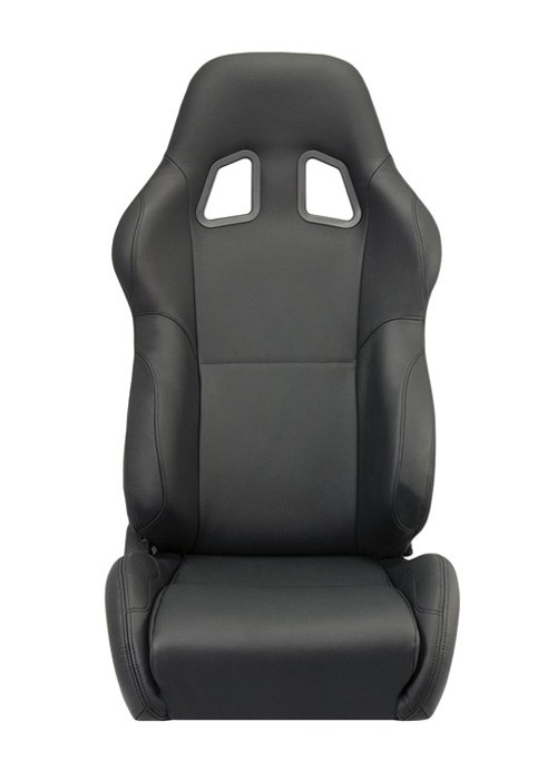 Corbeau A4 Seats - Black Leather