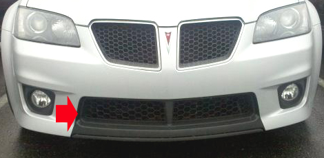 2009 Pontiac G8 GXP Max Performance Lower Radiator Grille