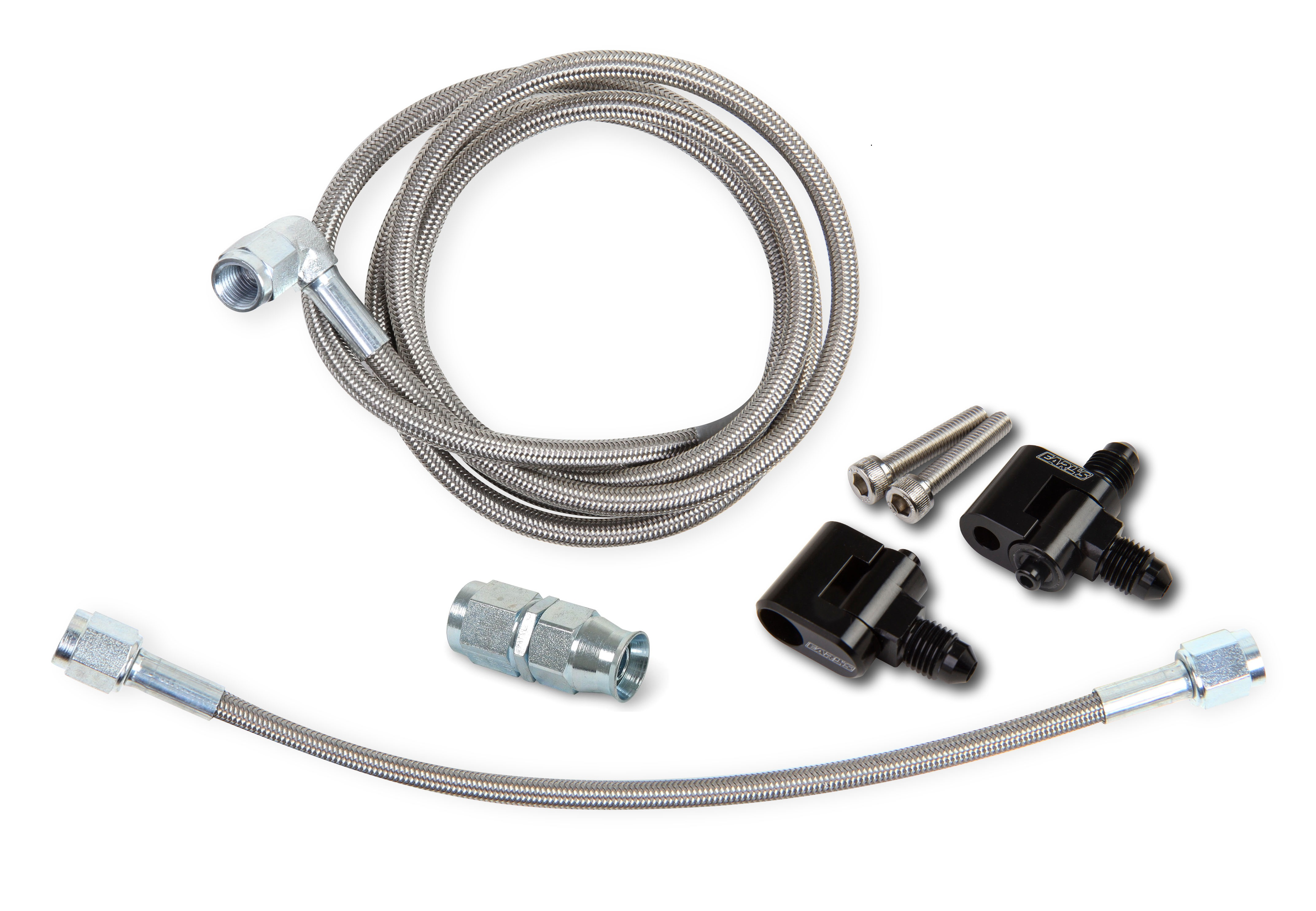 Earls LS Steam Tube Front Kit w/Speed -Flex (-3 Hose Size)