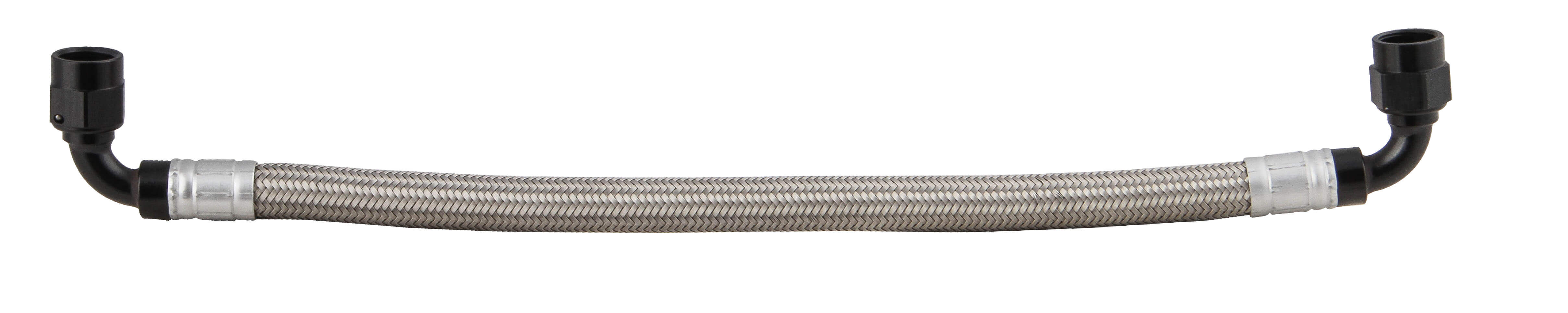 Earls GM LS Fuel Rail Cross-Over Hose -6 Stainless Braided Hose
