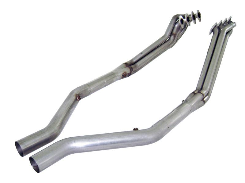 "2005-2010 Ford Mustang GT V8 Stainless Works 1 3/4"" Long Tube Headers Includes Offroad Xpipe"