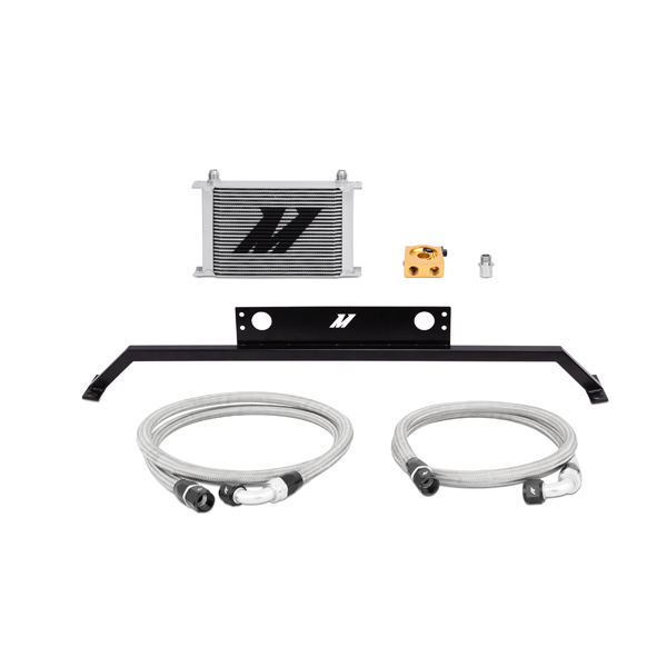 2011-2014 Ford Mustang 5.0L Mishimoto Performance Oil Cooler Kit - Silver