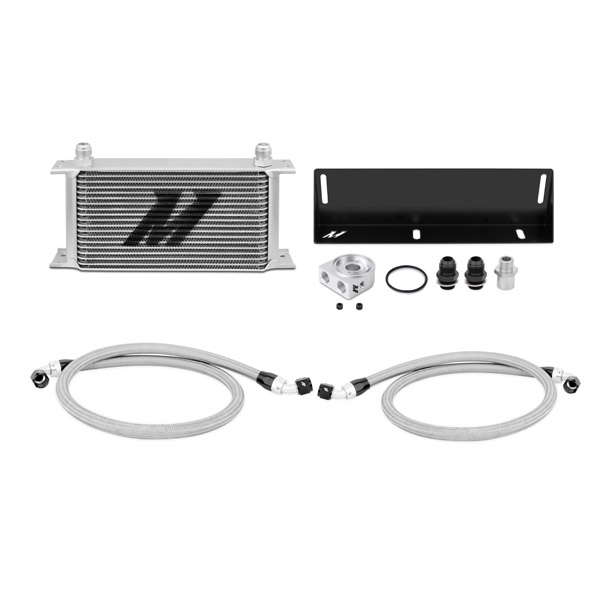 1979-1993 Ford Mustang 5.0L Mishimoto Performance Thermostatic Oil Cooler Kit - Black