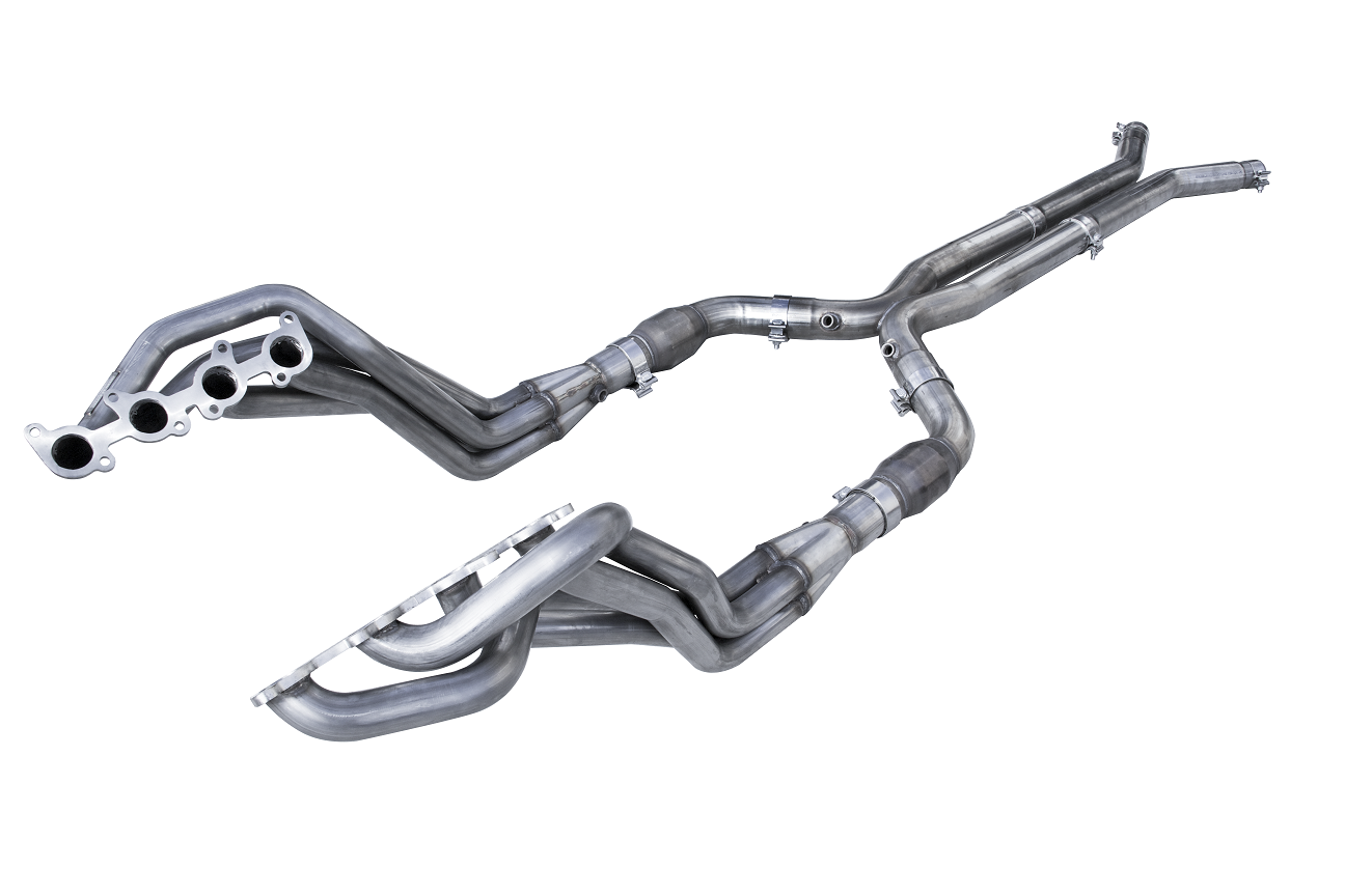 "2015+ Ford Mustang GT 5.0L American Racing Headers 1 3/4"" x 3"" Long Tube Headers w/3"" Catted Hpipe"