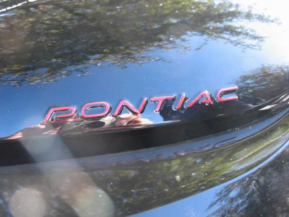 98-02 Firebird/Formula/Trans Am PONTIAC Headlight Lettering Over