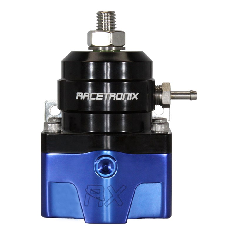 Racetronix EFI -8/-6 E85 Fuel Pressure Regulator - Black/Blue