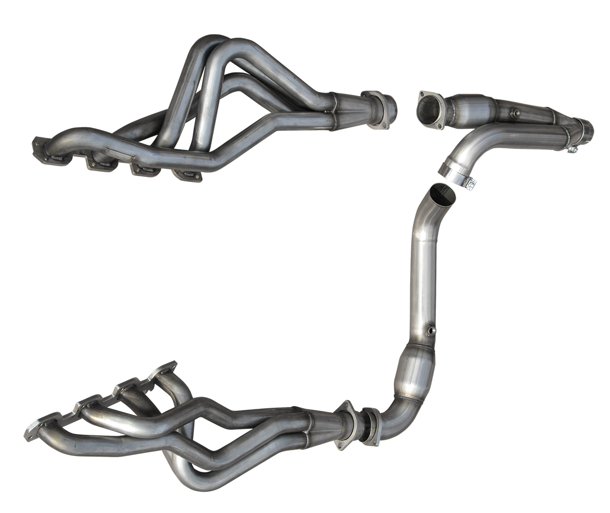 "2006-2008 Dodge Ram 1500 American Racing Headers 1 3/4"" x 3"" Long Tube Headers w/3"" Ypipe, No Cats & Pure Thunder Exhaust System"