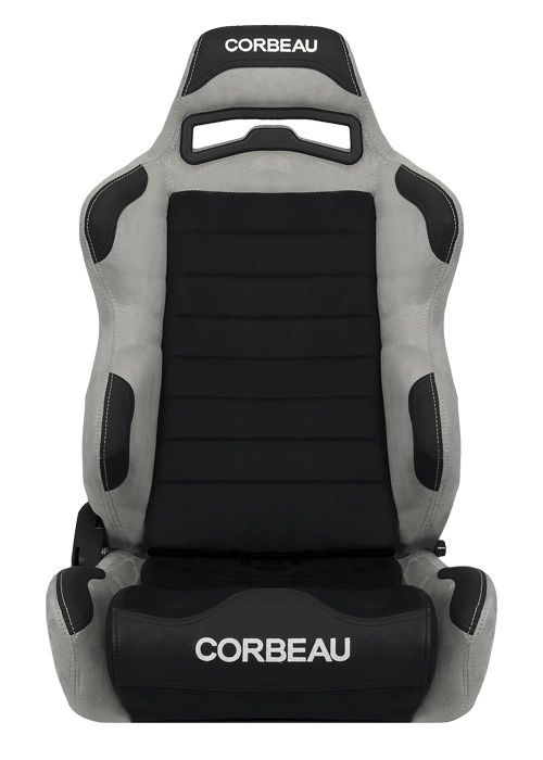 Corbeau LG1 Seats - Grey/Black Microsuede