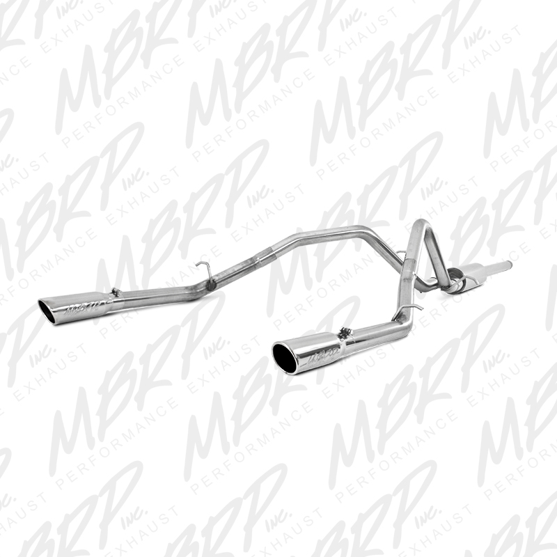 2014-2018 Chevy/GMC 1500 MBRP Performance T409 Stainless Catback Exhaust Kit w/Dual Split Rear Exit Tips - One-Piece Driveshaft