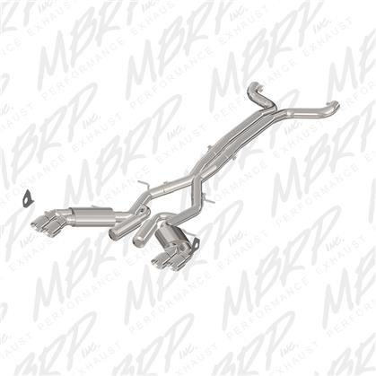 "2016+ Camaro SS MBRP Performance 3"" 409SS Street Version Catback Exhaust System w/Quad Tips"