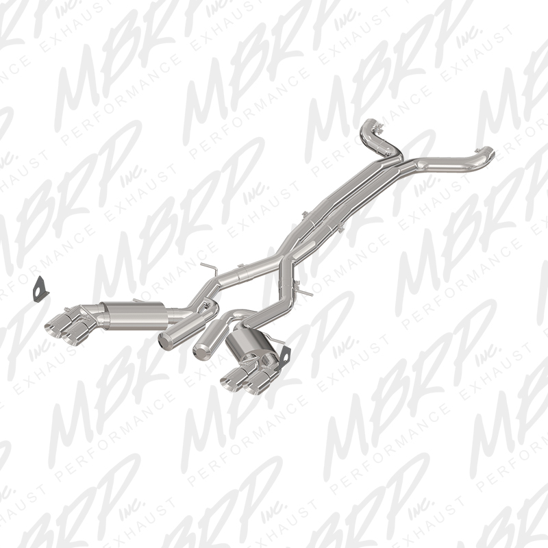 "2016+ Camaro SS MBRP Performance 3"" Aluminum Street Version Catback Exhaust System w/Quad Tips"