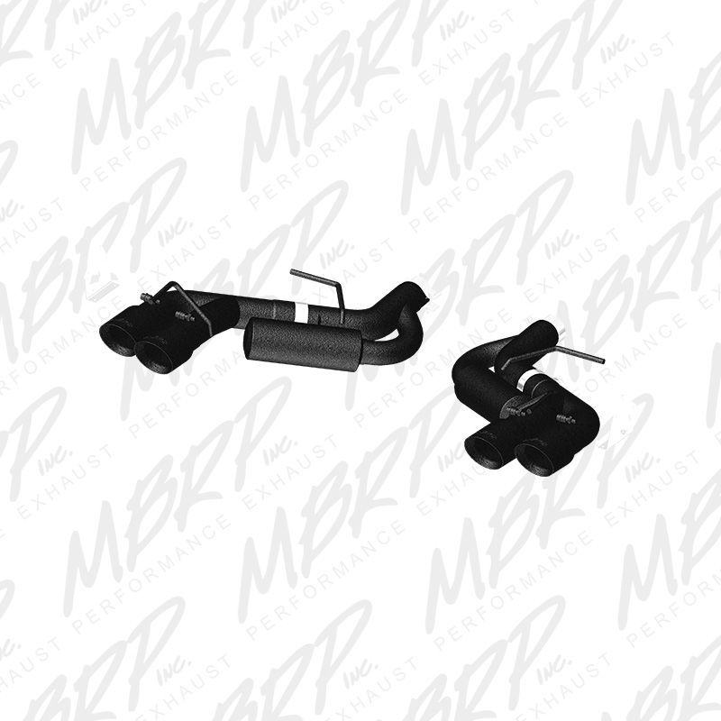 "2016+ Camaro MBRP Performance 3"" Dual Catback Exhaust System w/4"" Dual Quad Black Tips"