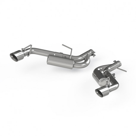 2016+ Camaro 3.6L V6 MBRP Dual Axle Back Exhaust w/Dual Tips (Non NPP) - T304 Stainless Steel