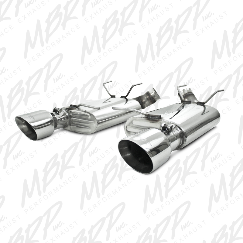 "2011+ Ford Mustang GT 5.0L V8 MBRP Performance 3"" Dual Muffler Axleback Exhaust - Stainless Steel"