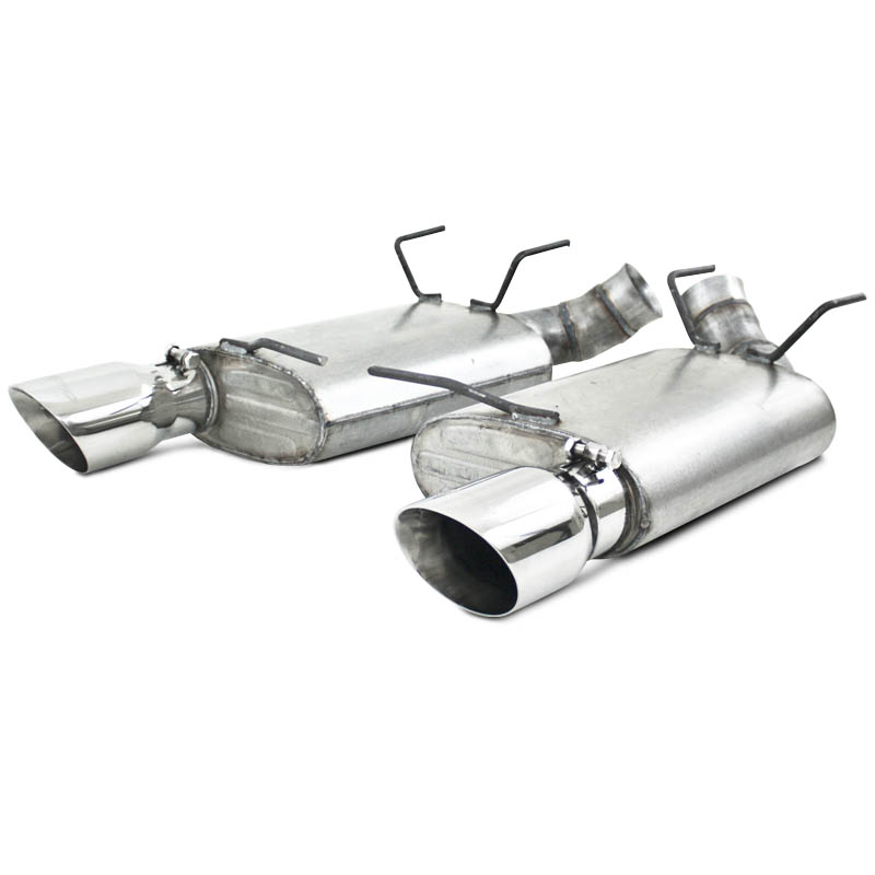 "2011+ Ford Mustang GT 5.0L V8 MBRP Performance 3"" Dual Muffler Axleback Exhaust - Aluminized Steel"