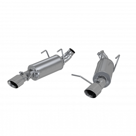 "2011-2014 Ford Mustang 3.6L V6 MBRP 3"" Dual Muffler Axleback Exhaust - T409 Stainless"