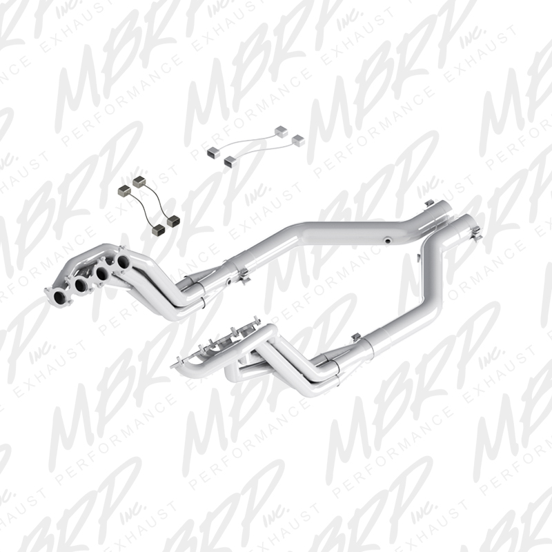 "2015+ Ford Mustang GT 5.0L V8 MBRP Performance 1 7/8"" Long Tube Headers w/Offroad Mid Section"