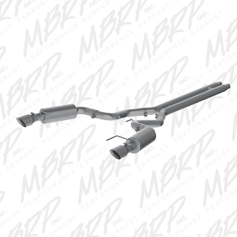 "2015+ Ford Mustang GT Convertible MBRP Performance Aluminized 3"" Catback Exhaust System - Street w/4.5"" Tips"