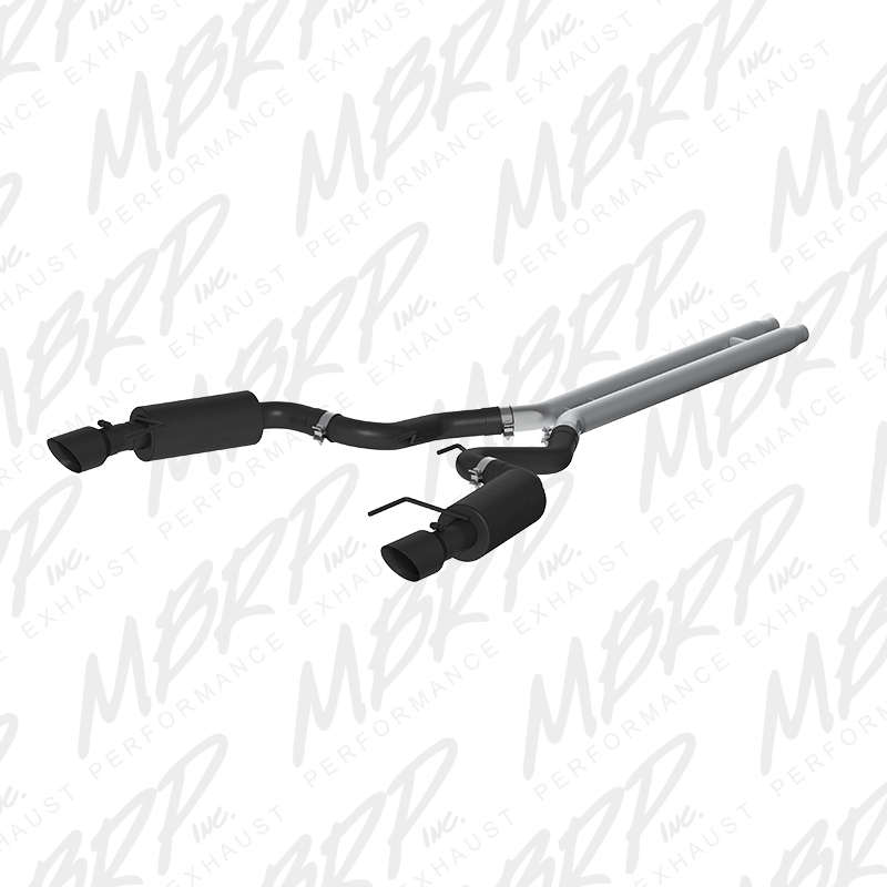 "2015+ Ford Mustang GT Convertible MBRP Performance Aluminized 3"" Catback Exhaust System - Street w/4.5"" Tips(Black)"