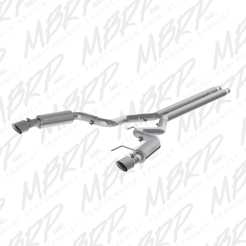 "2015+ Ford Mustang GT Convertible 5.0L MBRP Performance 3"" Stainless Dual Split Race Version Catback Exhaust System"
