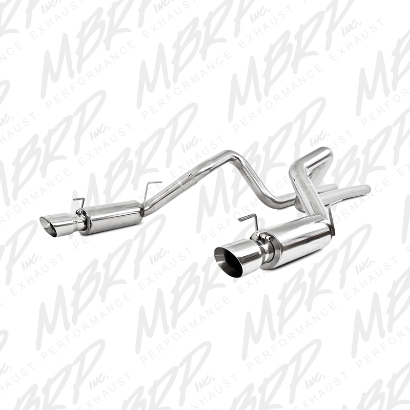 "2007-2010 Ford Mustang GT500 MBRP Performance Race Version Aluminized Stainless T304 Dual Catback w/4"" Tips"