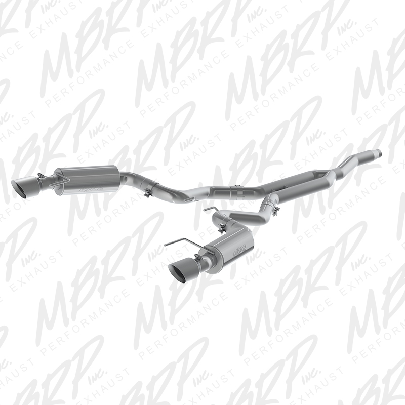 "2015+ Ford Mustang 2.3L I4 MBRP Performance Aluminized 3"" Catback Exhaust System - Street w/4.5"" Tips"