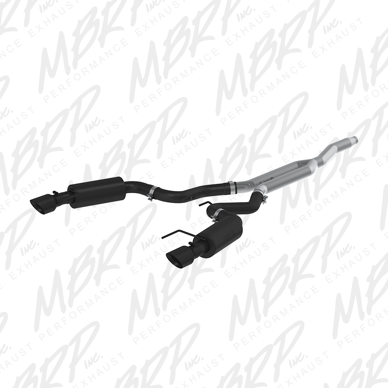 "2015+ Ford Mustang 2.3L I4 MBRP Performance 3"" Black Catback Exhaust System - Street w/4.5"" Tips"