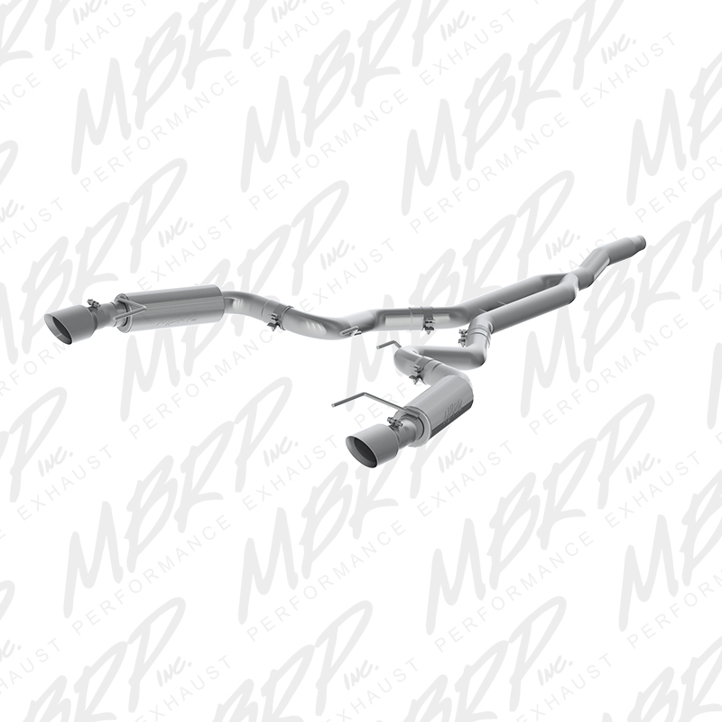 "2015+ Ford Mustang 2.3L I4 MBRP Performance Aluminized 3"" Catback Exhaust System - Race Version w/4.5"" Tips"