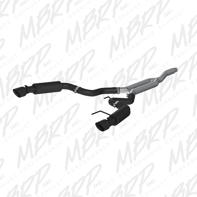 "2015+ Ford Mustang 2.3L I4 MBRP Performance 3"" Black Catback Exhaust System - Race Version w/4.5"" Tips"